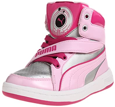 PUMA DJ 6S Girls Music Playing Sneakers/Hi Tops -Silver-6