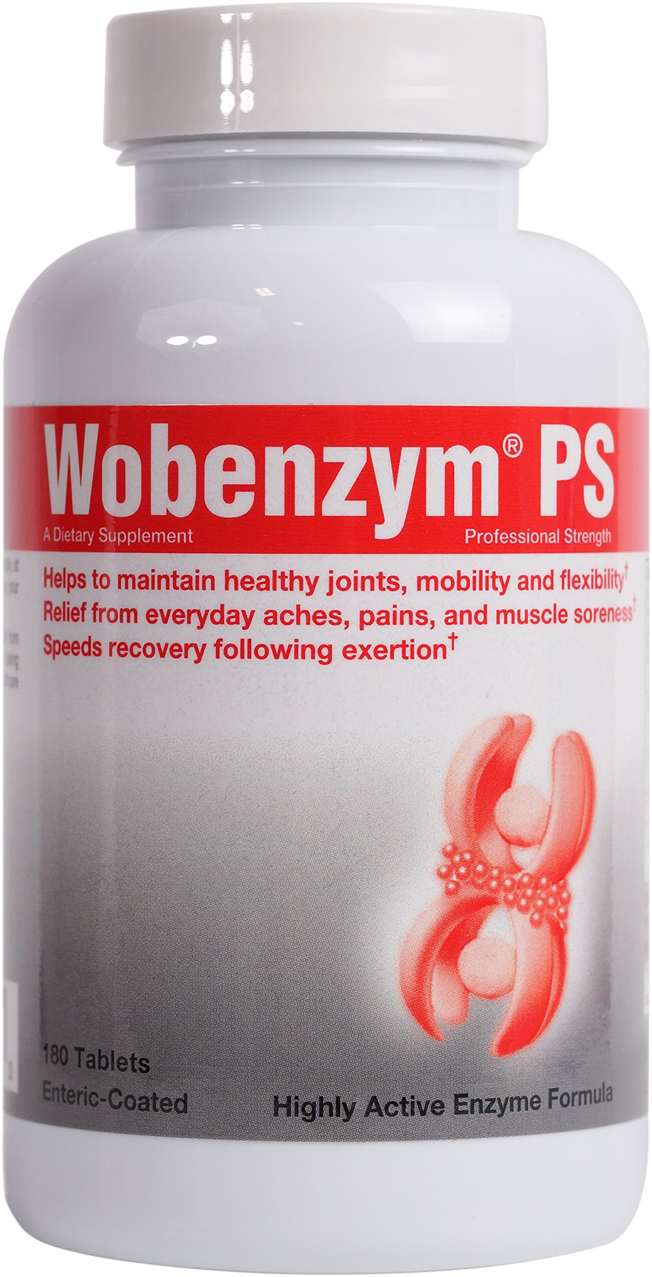 Wobenzym - Wobenzym PS - Helps Maintain Healthy Joints, Mobility, and Flexibility* - 180 Tablets