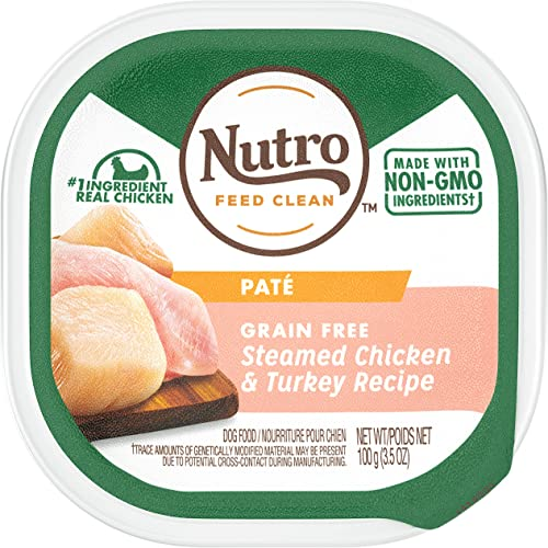 Nutro Pat Grain Free Wet Dog Food Adult Puppy, 3.5 oz Trays Pack of 24