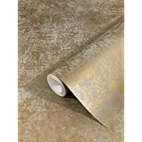 marburg behang goud uni vliesbehang modern, klassiek, weelderig voor slaapkamer, woonkamer of keuken 10,05m x 0,53m…