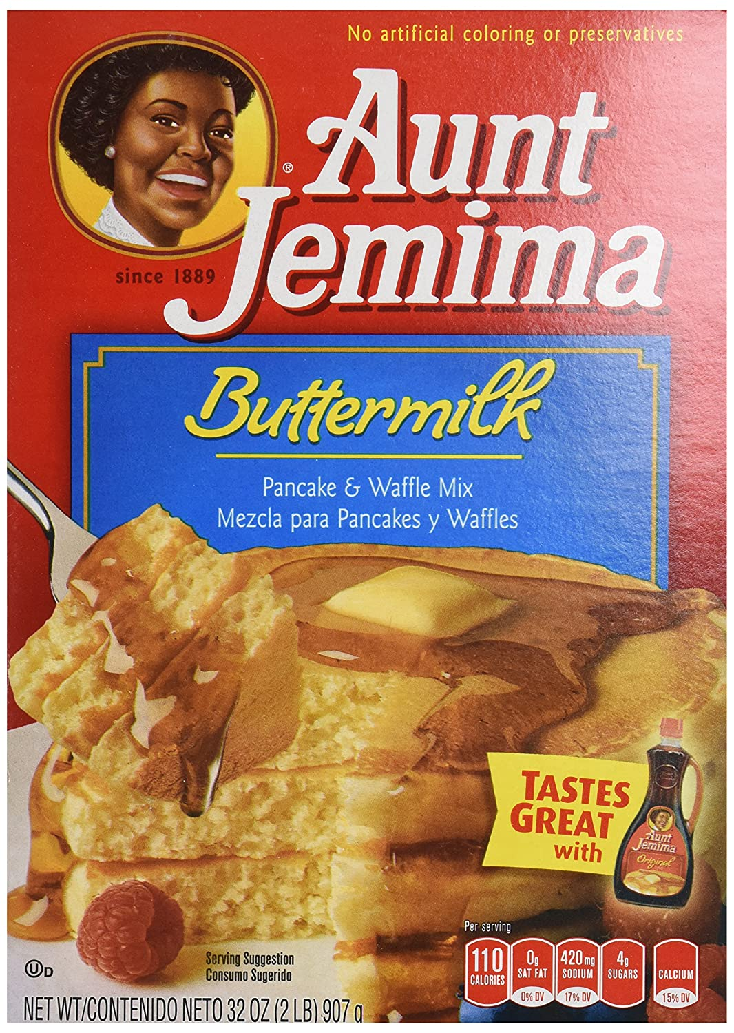 Amazon.com : Aunt Jemima Buttermilk Pancake & Waffle Mix 32 oz : Grocery & Gourmet Food