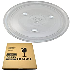 HQRP 12-3/8 inch Glass Turntable Tray for Emerson P34 MW1119 MW1161 MW1162 MW1337 MW1338 MWG9111 GA1000AP30P34 MWG9115 MW8117 MW8119 MW8992 MW9117 Microwave Oven Cooking Plate 315mm + HQRP Coaster
