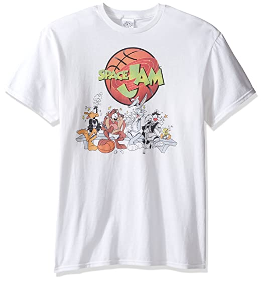 0517a4abe8aa15 Amazon.com  Warner Brothers Men s Seeing Stars Space Jam T-Shirt ...