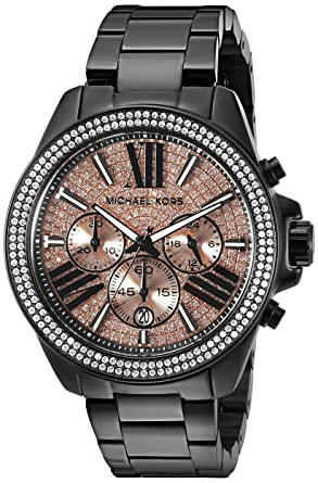 913e175be18be Image Unavailable. Image not available for. Color  Michael Kors Women s  Wren Black Watch MK5879