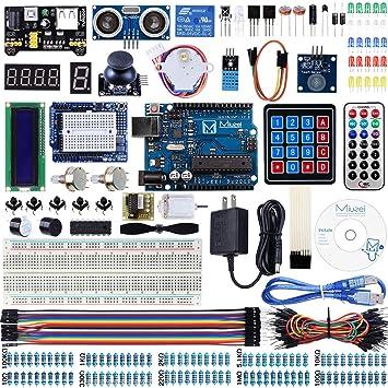 Amazon.com: miuzei uno r3 kit de iniciación para Arduino ...