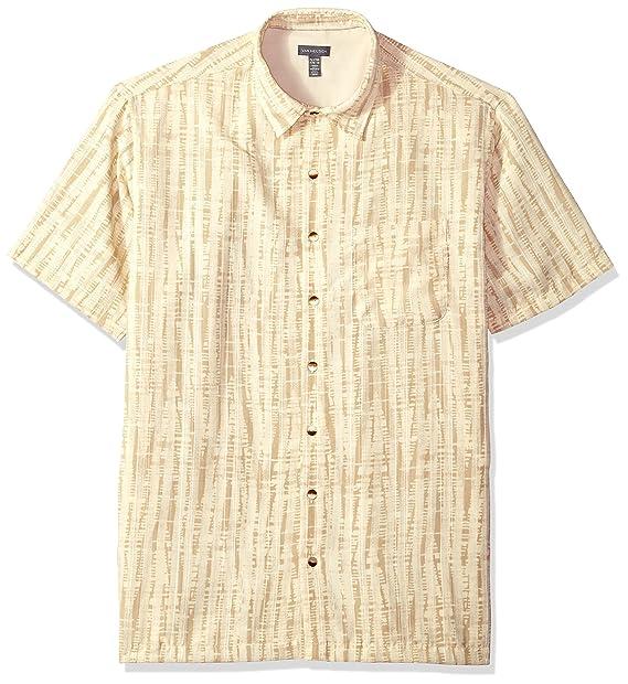 b06ece5c Van Heusen Men's Tall Size Big Oasis Printed Short Sleeve Shirt, Deep Khaki  Concrete,