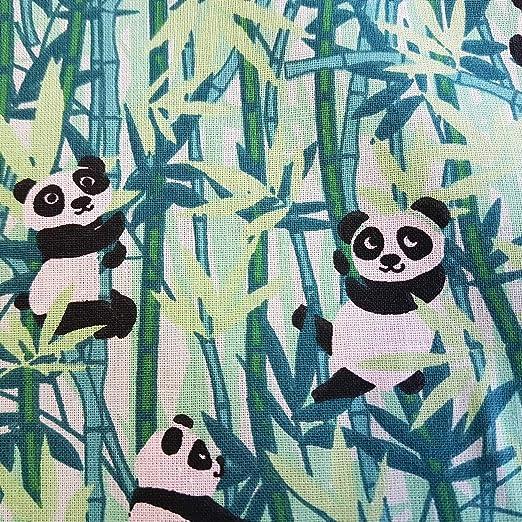 Tela de Tela de algodón de Werthers, por Metros, Verde, Panda, bambú, Tela Decorativa, Precio por Metro: Amazon.es: Juguetes y juegos