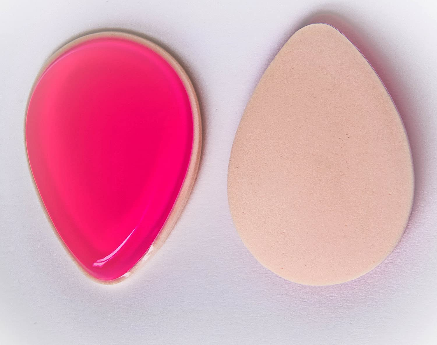 Silicon & Sponge 2in1 Teardrop Pink Makeup Blender