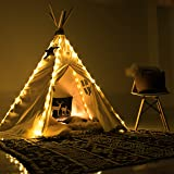 Fairy Lights for Teepee Tents - Battery Operated 4 LED Strings for Wedding Party Centerpieces, Waterproof Decorative Lights for Bedroom, Kids Teepee Decoration TENT NOT INCLUDED