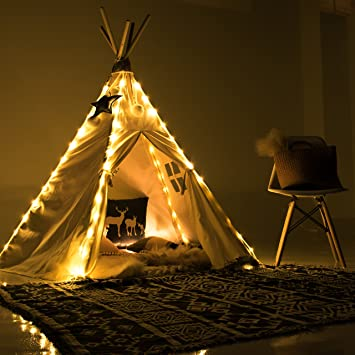 Fairy Lights for Teepee Tents - Battery Operated 4 LED Strings for Wedding Party Centerpieces & Amazon.com : Fairy Lights for Teepee Tents - Battery Operated 4 ...