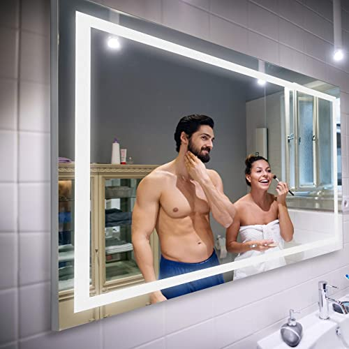 LED Lighted Bathroom Mirror Width 47 inch x Height 35 inch