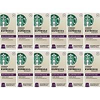 Starbucks 浓咖啡烘焙胶囊 Nespresso咖啡机兼容 (12包,共120 个胶囊)(浓度10)