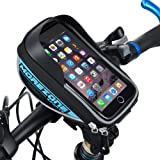 Morezone Bike Handlebar Bag For Smart Phone Holder With Touch Screen Bicycle Pouch Bike Frame Bags Fit For Cellphone Below 5.5 inch