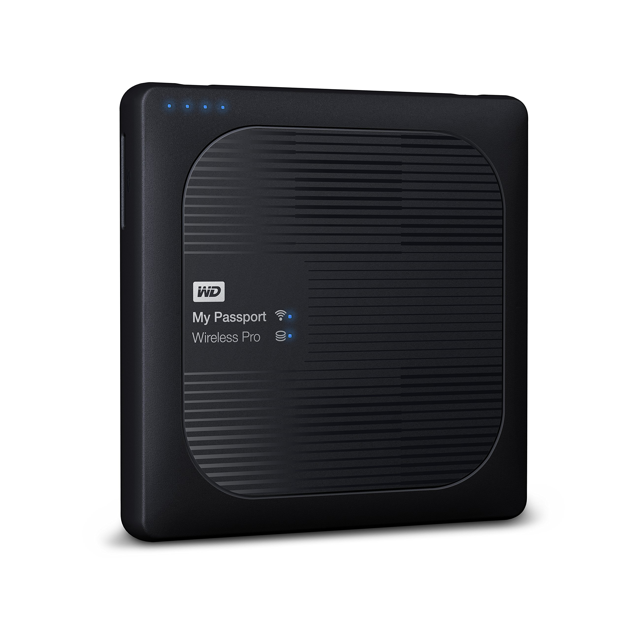 WD 4TB My Passport Wireless Pro Portable external Hard Drive - WiFi USB 3.0 - WDBSMT0040BBK-NESN