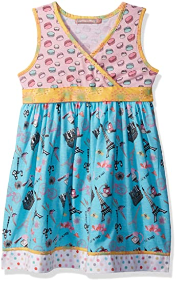 337417db849 Amazon.com  Jelly the Pug Girls  Little Spring in Paris Abbey Dress   Clothing