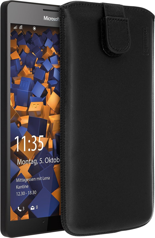 Mumbi Echt Ledertasche Kompatibel Mit Microsoft Lumia Elektronik