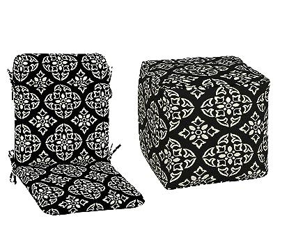 Marvelous Amazon Com Better Homes Gardens Black And White Evergreenethics Interior Chair Design Evergreenethicsorg