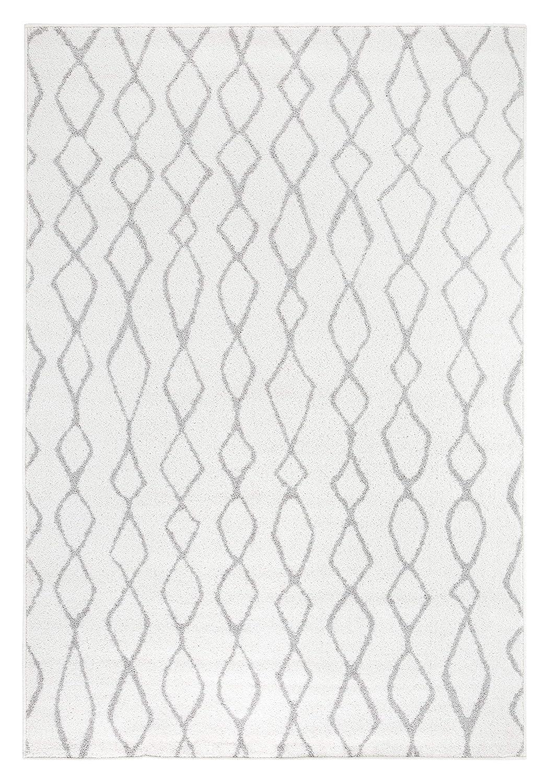 Andiamo Webteppich Bolognia Ornament-Muster Modern Polypropylen Öko-Tex 100 Teppich, Grau-Ornamente, 200 x 285