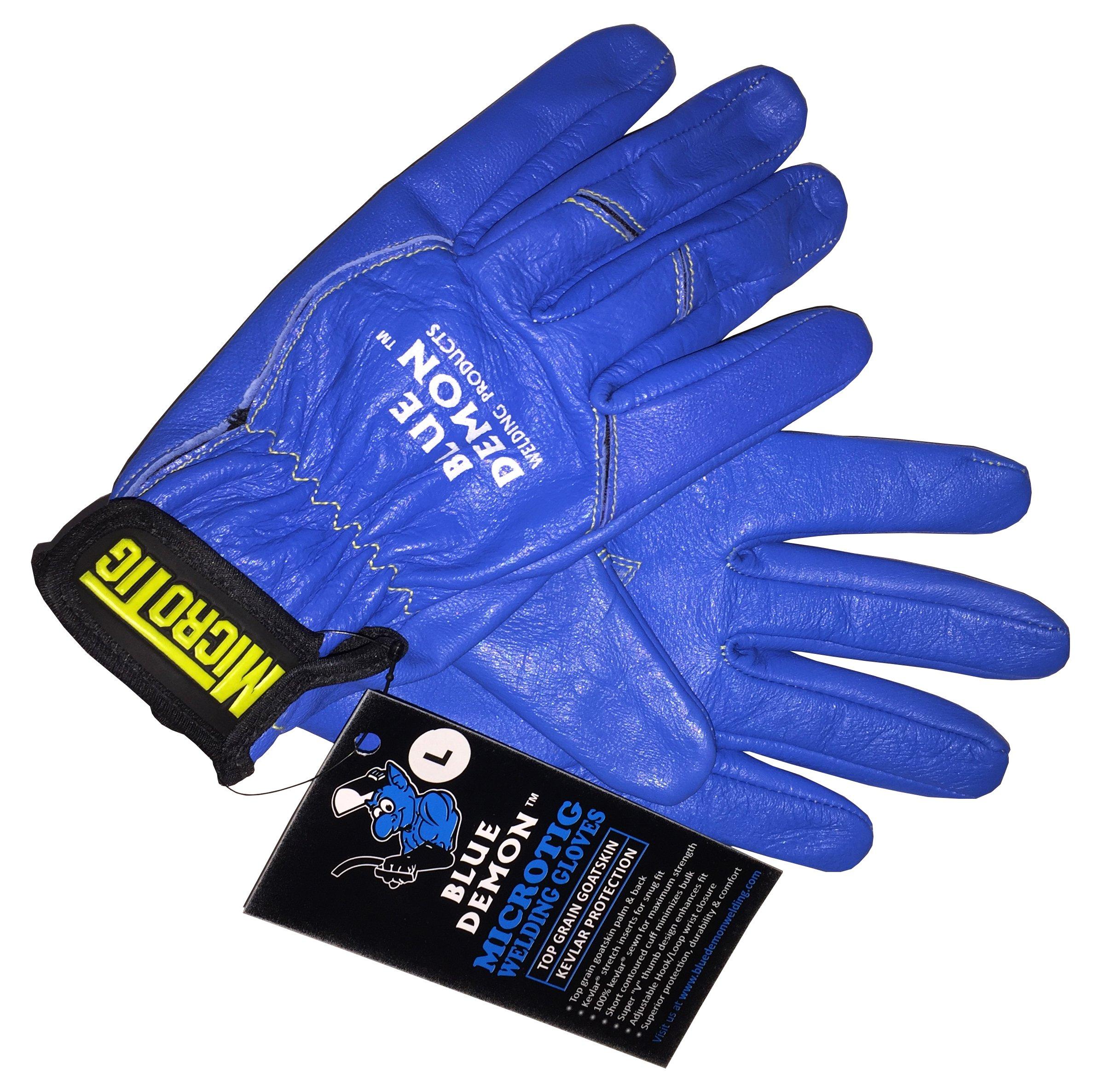 Blue Demon BDWG-MICROTIG-L Premium TIG Welding Glove, Large, Blue