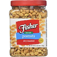 Fisher Dry Roasted Sea Salt Peanuts 36 oz (2 LB 4 oz)