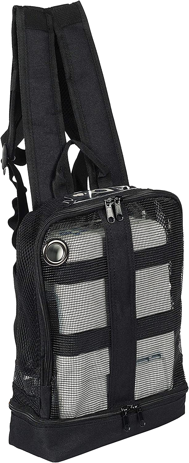 O2TOTES Portable Oxygen Backpack, Fits Inogen One G5, Inogen One G3, Respironics Simply Go Mini, Oxygo, and Caire Units, Black