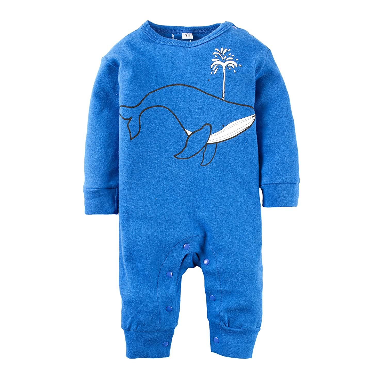 BIG ELEPHANT Baby Jungen 1 Stück Graphic Print Langarm Strampler Pyjama L41