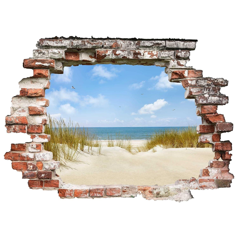 Bilderwelten 3D Wandtattoo - Strand an der Nordsee - Quer 3:4, Größe: 120cm x 160cm