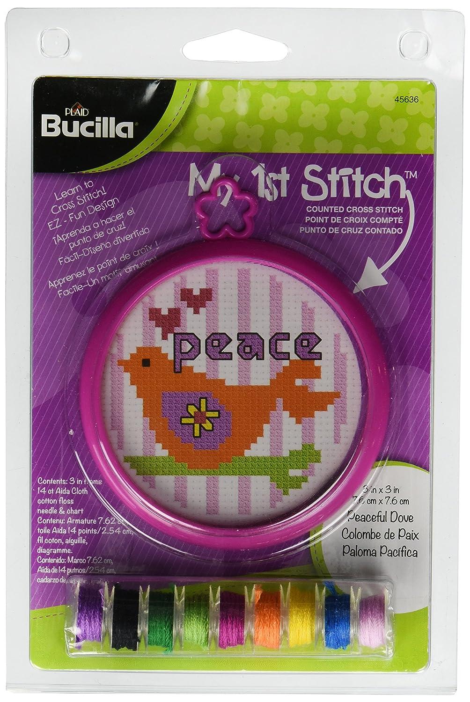 Janlynn Kid Stitch 11 Count Peace Mini Counted Cross Stitch Kit 3-Inch