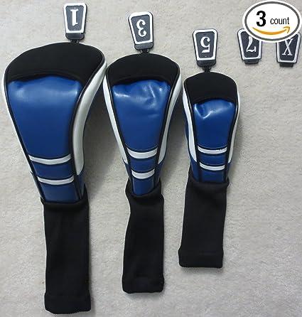 Amazon.com: Palo de golf conjunto de etiquetas 3 Azul, Color ...