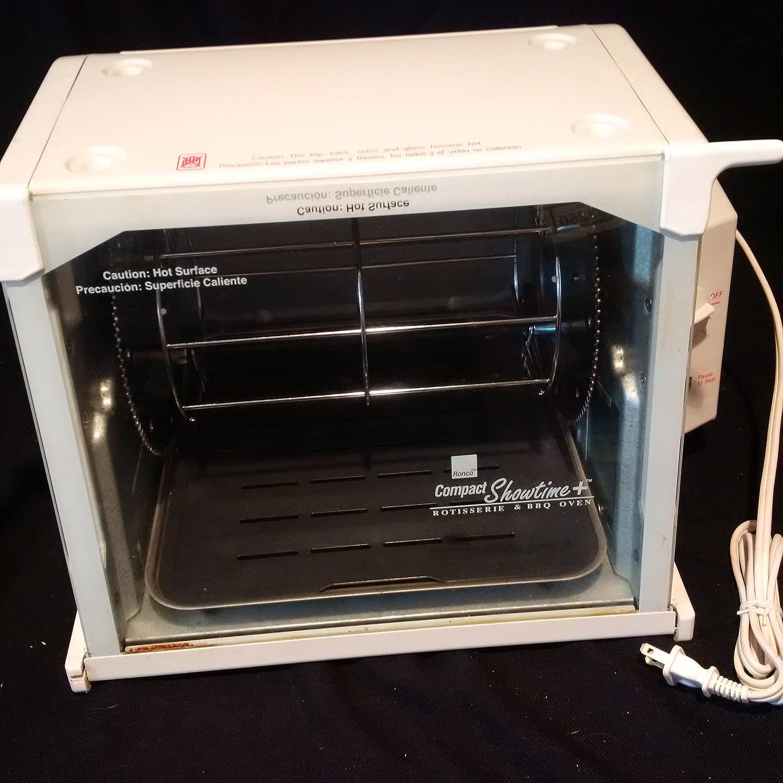 Perfect Preset Rotation Speed Includes Multipurpose Basket Compact Storage Auto Shutoff Ronco Showtime EZ-Store Large Capacity Rotisserie /& BBQ Oven Self-Basting Digital Controls