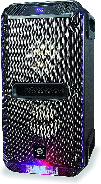 Conceptronic DARIO01B 30 W Negro - Altavoces portátiles (30 W, 100-20000 Hz, 4 Ω, 85 dB, 1%, Inalámbrico y alámbrico)