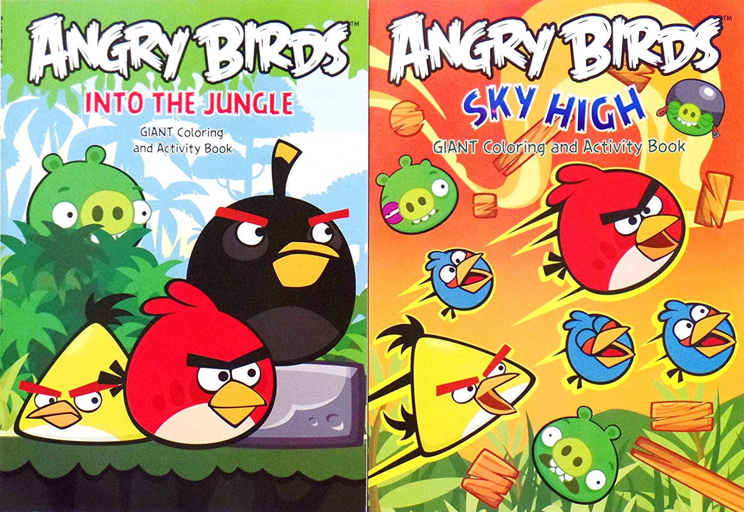 - Amazon.com: Angry Birds Giant Coloring And Activity Books - Into