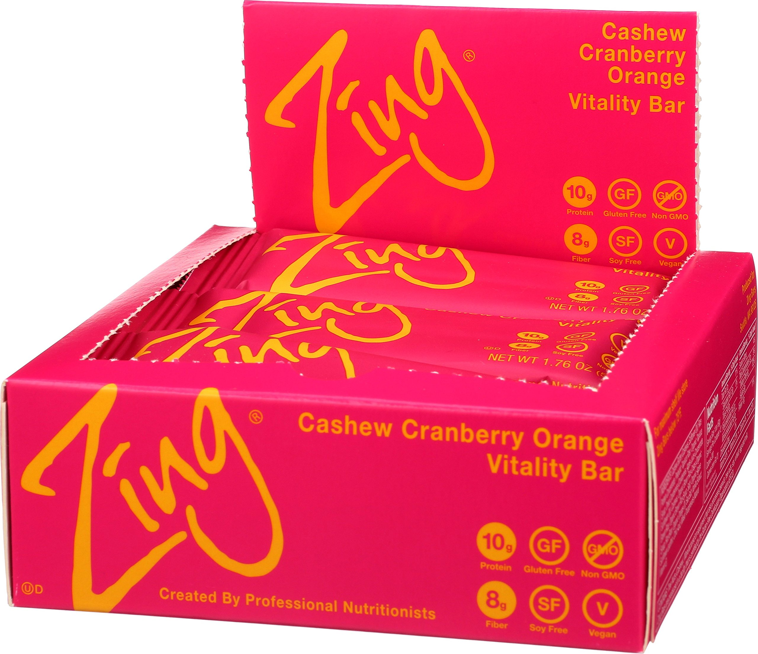 Zing Nutrition Bar, Cashew Cranberry Orange, (Pack of 12), Non-GMO Snack Bar for Optimum Energy, Gluten & Soy Free, Plant-Based Protein by Zing Bars (Image #5)