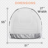 Grey Baby Canopy Cover -Safety Pop Up Tent - See