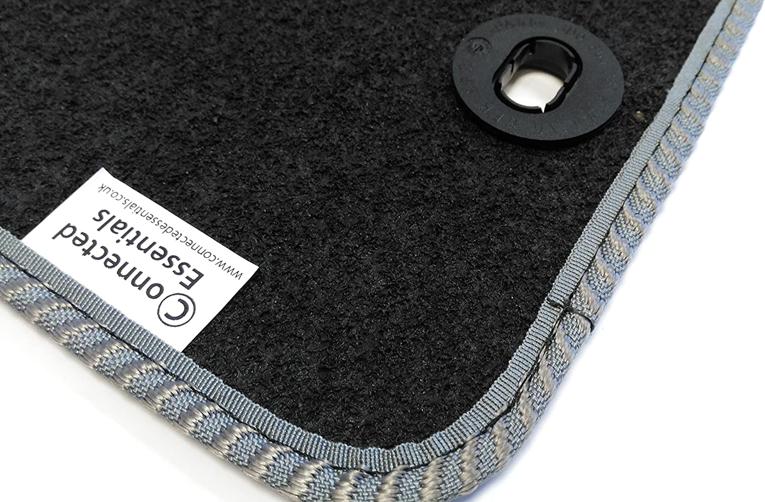 2005-Onwards Connected Essentials CEB750 Car Mat Set for 5 Prestige Bootmat Black with Grey Trim