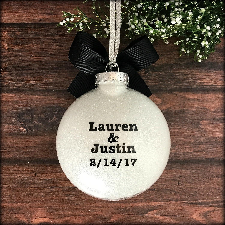 Amazon: Engaged Ornament, Engagement Christmas Ornament, Personalized  Engagement Ornaments: Handmade