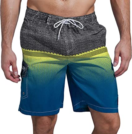 Swim Trunks For Men Casual Printing Waterproof Beach Surfing Short
