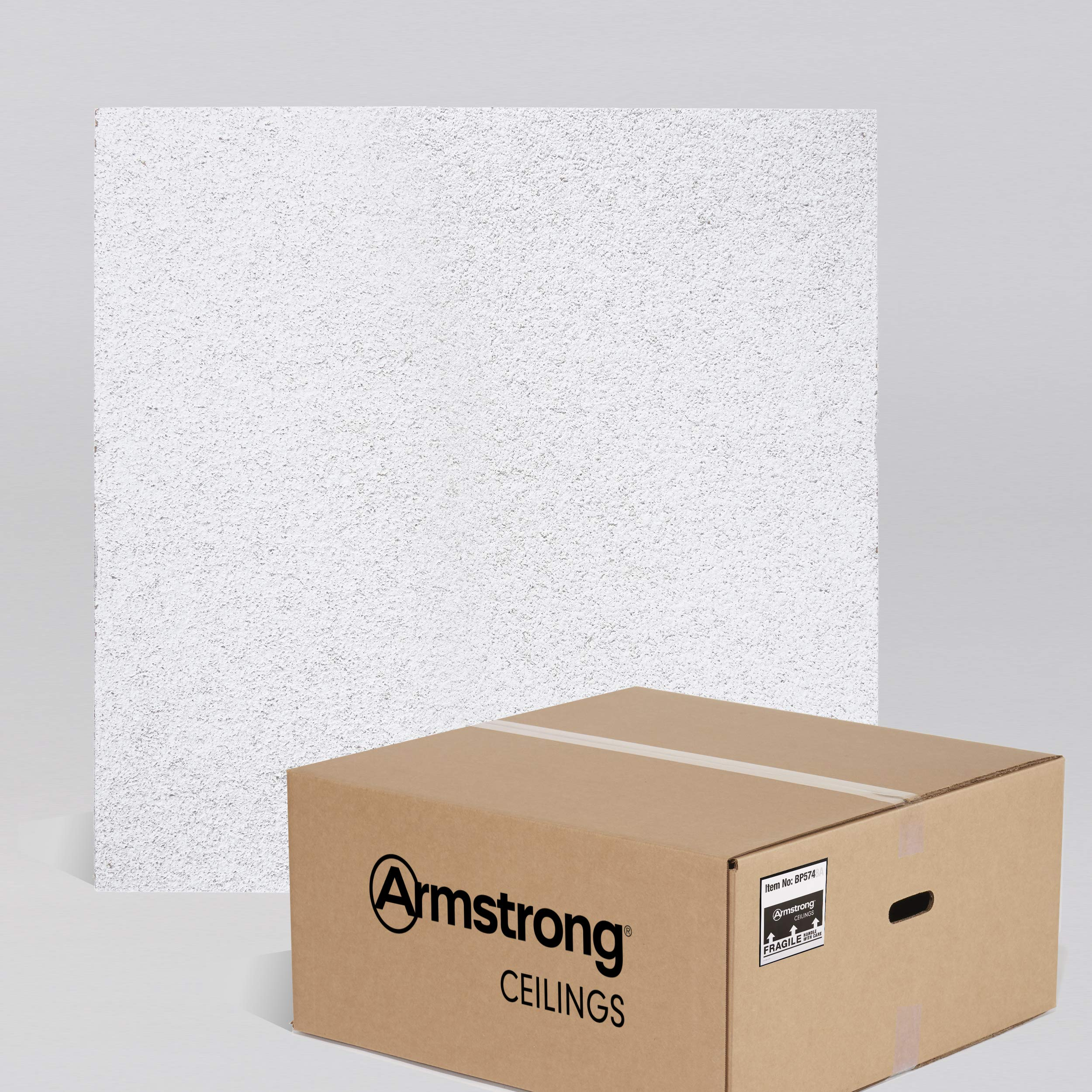 Armstrong Ceiling Tiles; 2x2 Ceiling Tiles - HUMIGUARD Plus Acoustic Ceilings for Suspended Ceiling Grid; Drop Ceiling Tiles Direct from the Manufacturer; CIRRUS Item 574 - 12 pcs White Lay-in