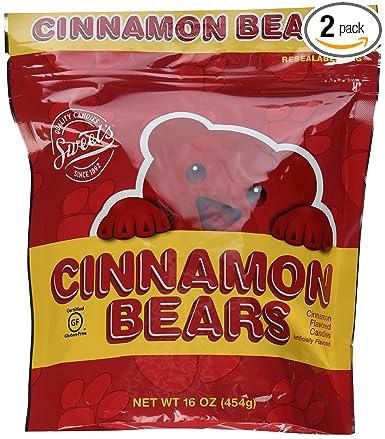 Osos dulces de canela, bolsa reutilizable de 16onzas ...