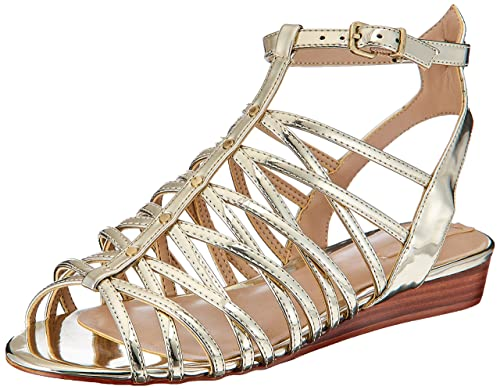 ca0bec315fc Aldo Women's Lirawet Gold Fashion Sandals -7 UK/India (40 EU) (9 US): Buy  Online at Low Prices in India - Amazon.in