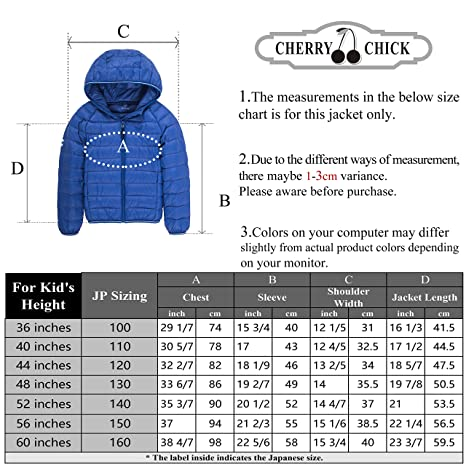 f15885df2080 Amazon.com  CHERRY CHICK Kid s Ultralight Packable Hoodie Down Parka ...