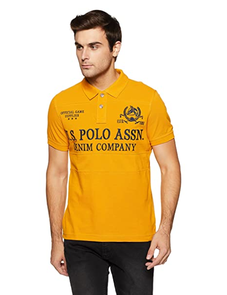 fashion selected material 2020 US Polo Men's Checkered Regular Fit T-Shirt