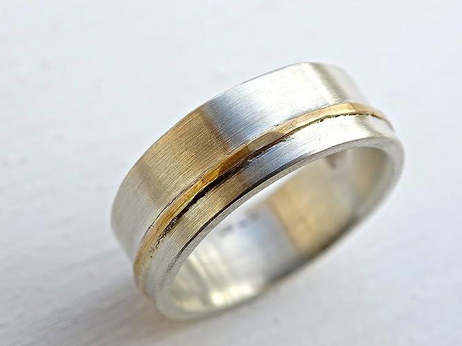 Amazon Com Viking Wedding Ring Mens Wedding Band Gold Silver