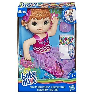 Baby Alive E4410ES1 Shimmer N Splash Mermaid Figure, Multi-Colour: Toys & Games [5Bkhe1803060]