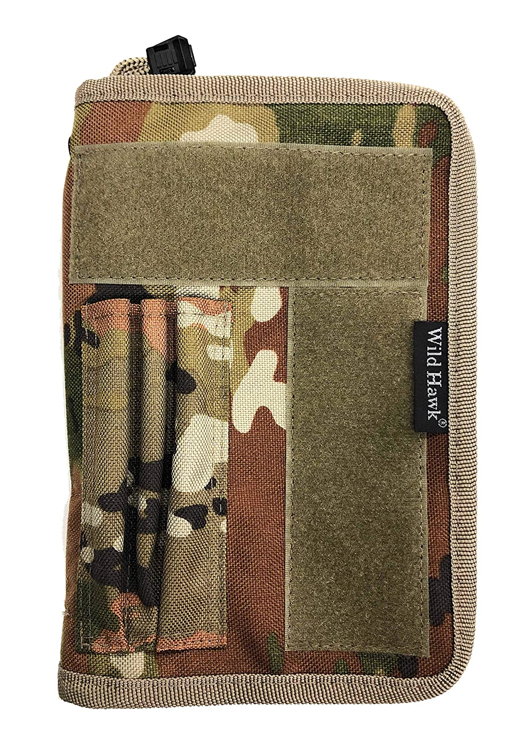 Green Military Issue Hardcover Field Notebook aka. Leaders Book Zipper Cover Black