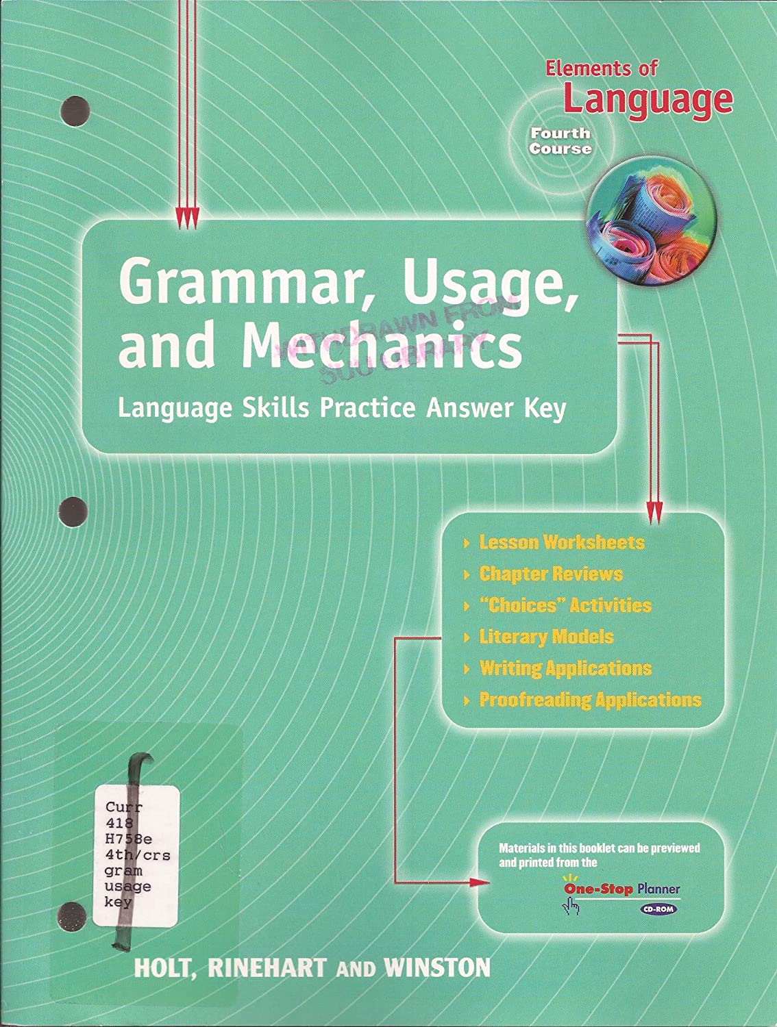Workbooks » Grammar Usage And Mechanics Workbook Answers - Free ...