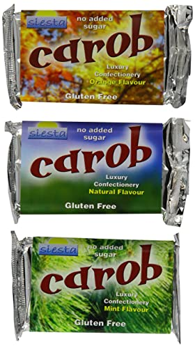 Siesta No Added Sugar Carob Mixed Bars 50 g (Pack of 12)