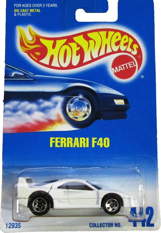 Mattel Hot Wheels 1991 1 64 Scale White Ferrari F40 Die Cast Car Collector 442 By Hot Wheels Amazon De Spielzeug