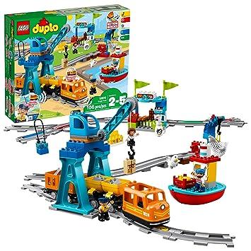 Amazon com: LEGO DUPLO Cargo Train 10875 Battery-Operated