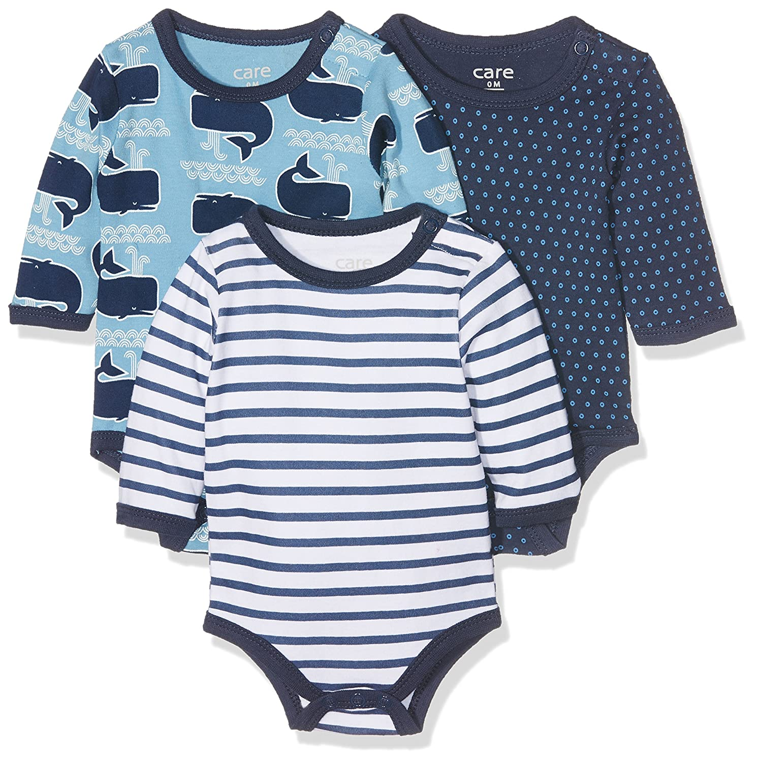 Care Baby - Jungen Langarm-Body im 3er Pack Brands 4 Kids A/S 4132
